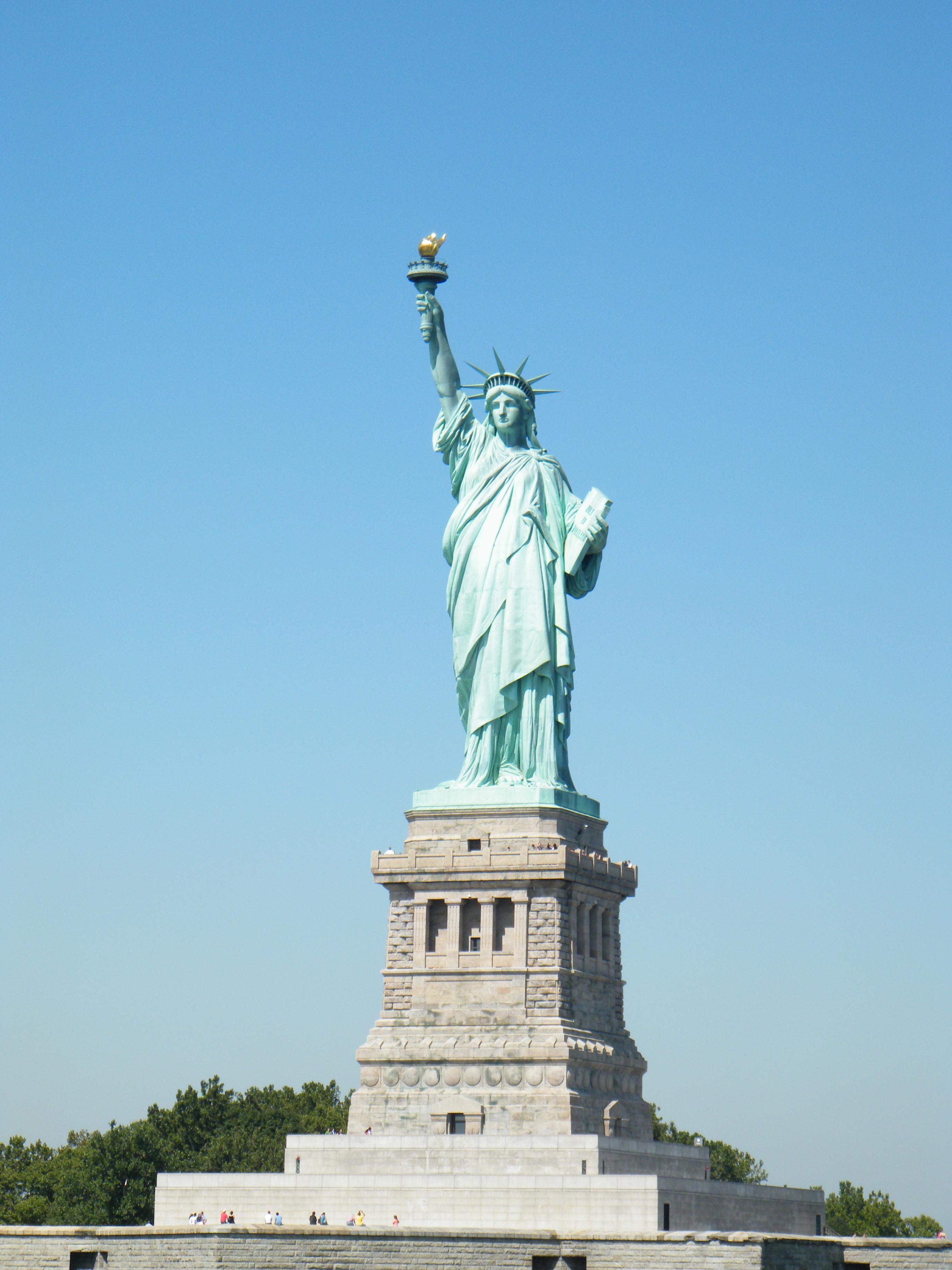 美国自由女神简笔画