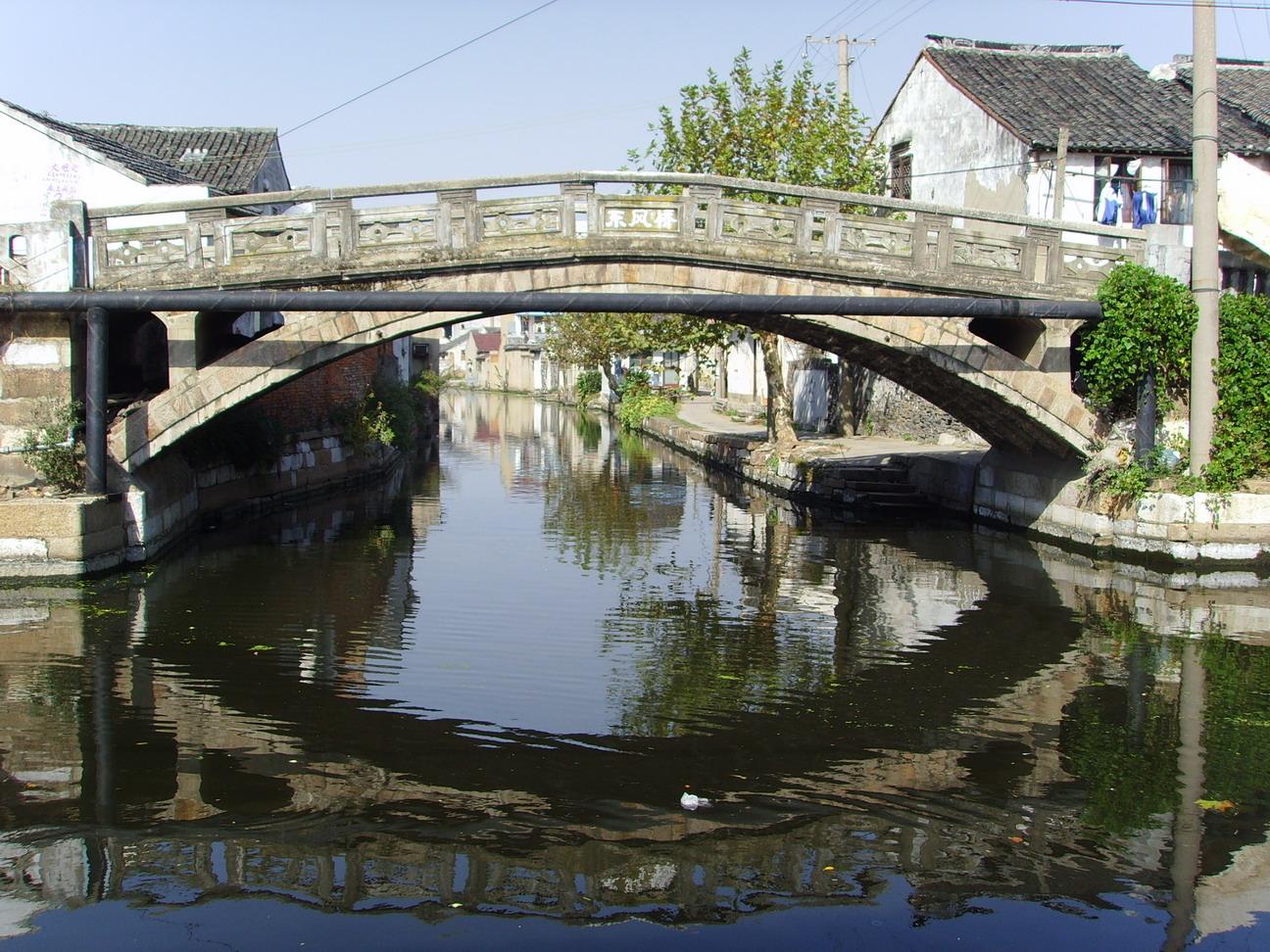 壁纸 风景 古镇 建筑 旅游 桥 摄影 1296_972